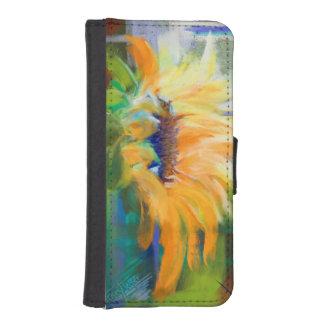 Solros fångat solljus iPhone SE/5/5s plånbok