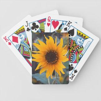 Solros på skymningen spelkort