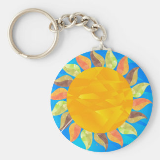 Solros Rund Nyckelring