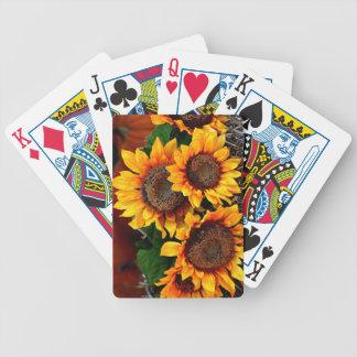 Solros som leker kort spelkort