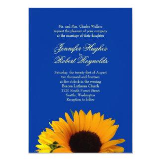 Solrosbröllopinbjudan 12,7 X 17,8 Cm Inbjudningskort