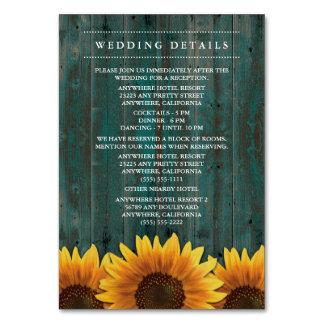 Solrosbröllopmottagande + Boendekort Bordsnummer