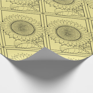 Solrosen fodrar konstdesign presentpapper