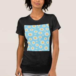 Solrosen på blått mönstrar roligt gulligt chic t shirts