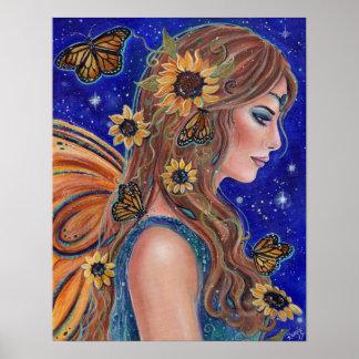 Solrosfe med fjärilskonst vid Renee Poster