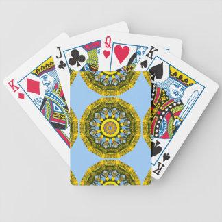 Solrosor mönster, Blomma-Mandala Spelkort