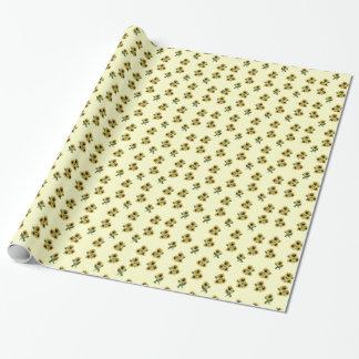 Solrosor mönstrat gåvasjalpapper presentpapper