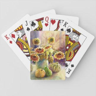 Solrosor och kalebasser spelkort