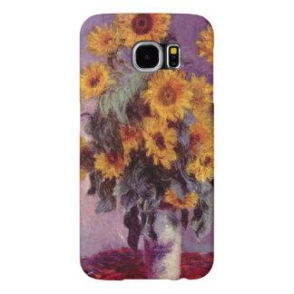 Solrosor vid Claude Monet Galaxy S5 Fodral