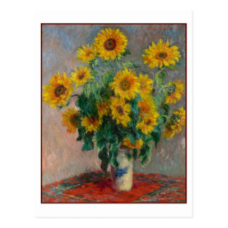 Solrosor vid Claude Monet Vykort