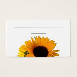 """Solrosställekort (3,5"""" x 2,0"""", 100 packe) visitkort"""