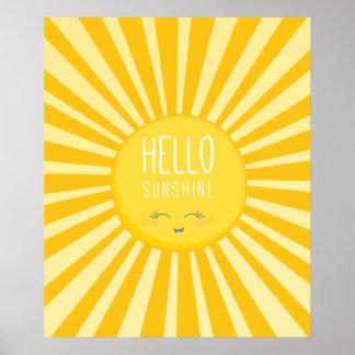 Solsken för sol för KAWAII-HIMMEL ljust djärvt Poster