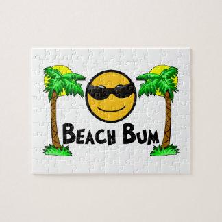 Solsken & palmträd för strand dåligt pussel