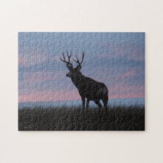 Soluppgång för hjort för Mule D0003 Pussel