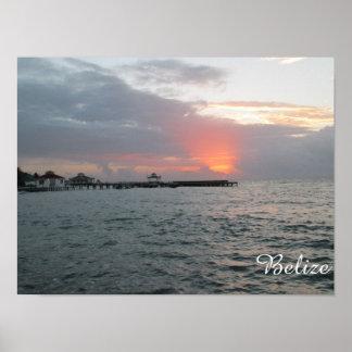 Soluppgång i Belize Poster