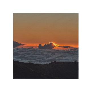 Soluppgång på Haleakala Trätavla