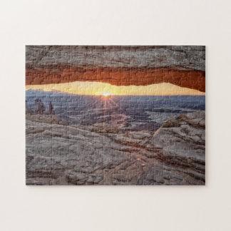 Soluppgång på Mesa-bågen, Canyonlands nationalpark Pussel