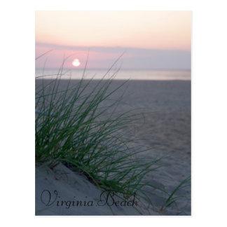 Soluppgång på stranden vykort