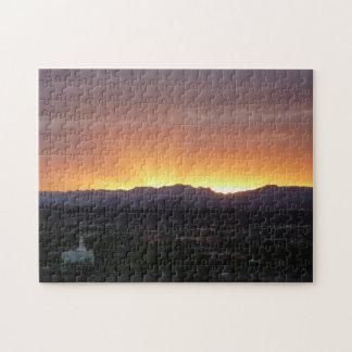 Soluppgången över St George Utah landskap Pussel