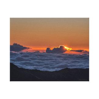 Soluppgången på Haleakala fotograferar på slågen Canvastryck