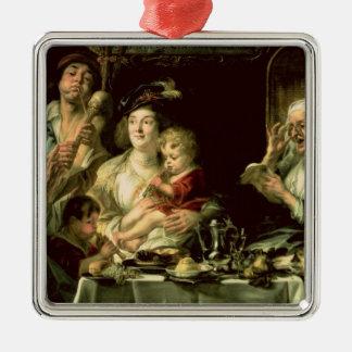 Som den gammala sjungan så barn leda i rör, 1638 julgransprydnad metall