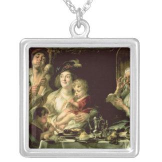 Som den gammala sjungan så barn leda i rör, 1638 silverpläterat halsband