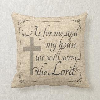 Som för mig och mitt hus ska vi serve lorden kudde