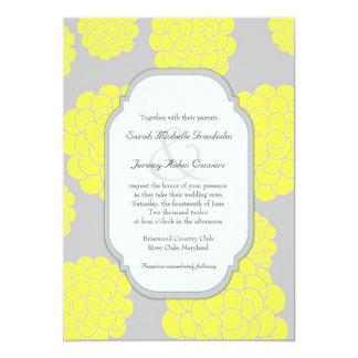 Som man har råd med bröllop för Paris kärlekgula 12,7 X 17,8 Cm Inbjudningskort