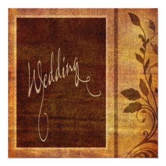 Som man har råd med bröllop för varm höstromantik fyrkantigt 13,3 cm inbjudningskort