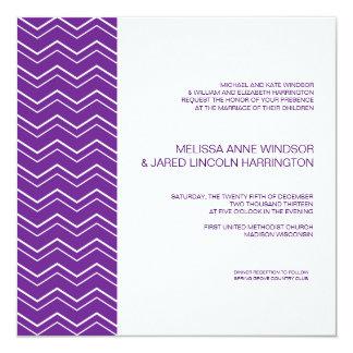 Som man har råd med djärva lilor för sparrerand fyrkantigt 13,3 cm inbjudningskort
