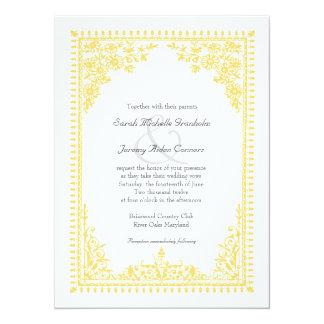 Som man har råd med gult bröllop för Parisian 14 X 19,5 Cm Inbjudningskort
