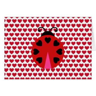 Som man har råd med valentines dayhjärtamönster hälsningskort