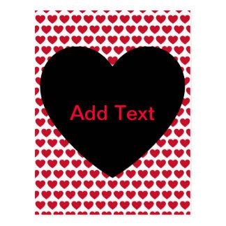 Som man har råd med valentines dayhjärtamönster vykort