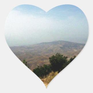 Som salt, Jordaniengräns Hjärtformat Klistermärke