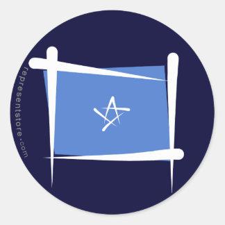 Somalia borstar flagga runt klistermärke