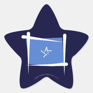 Somalia borstar flagga stjärnformat klistermärke