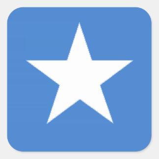 Somalia flagga fyrkantigt klistermärke