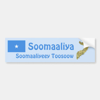 Somalia flagga + Kartabildekal Bildekal