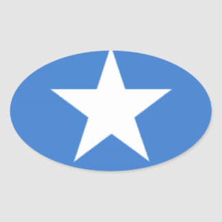 Somalia flagga ovalt klistermärke