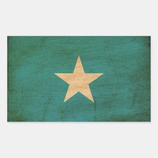 Somalia flagga rektangulärt klistermärke