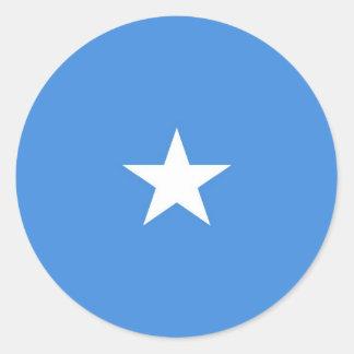 Somalia flagga runt klistermärke