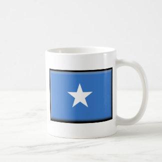 Somalia flagga vit mugg
