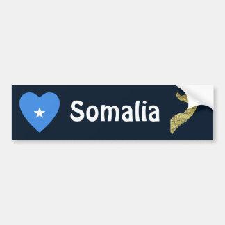 Somalia flaggahjärta + Kartabildekal Bildekal