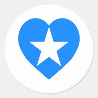 Somalia flaggahjärta runt klistermärke