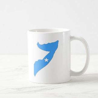 Somalia flaggakarta vit mugg