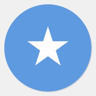 Somalia flaggaklistermärke runt klistermärke