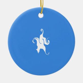 Somalia Gnarly flagga Rund Julgransprydnad I Keramik