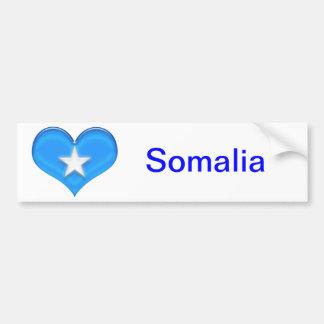 Somalia hjärtaflagga bildekal