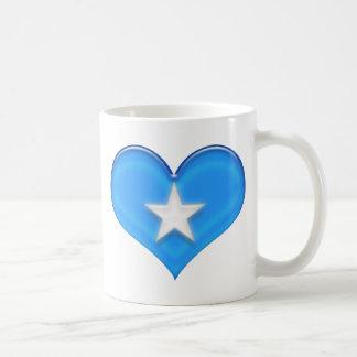 Somalia hjärtaflagga vit mugg