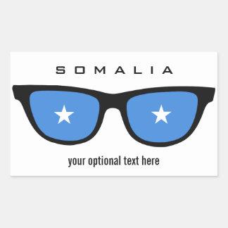 Somalia skuggar beställnings- klistermärkear rektangulärt klistermärke